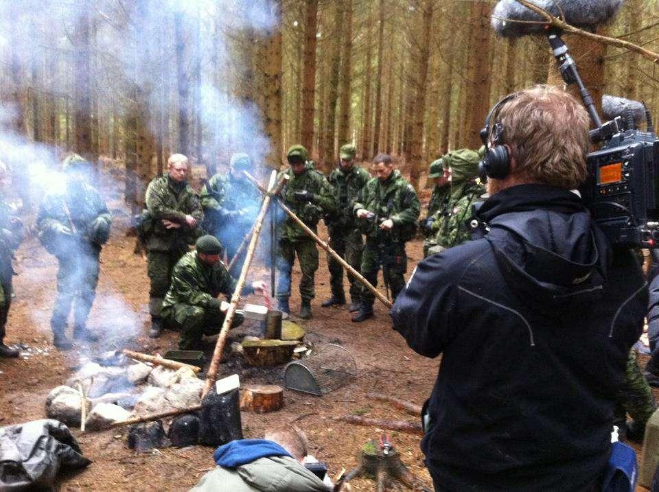 Fra optagelserne til 'Aspiranterne' Foto: Krigeren.dk