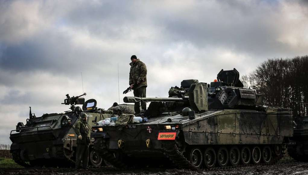 PMV M113 og CV9035 IKK i BSO området, er kørt frem for at efterse de sidste ting, inden afgang