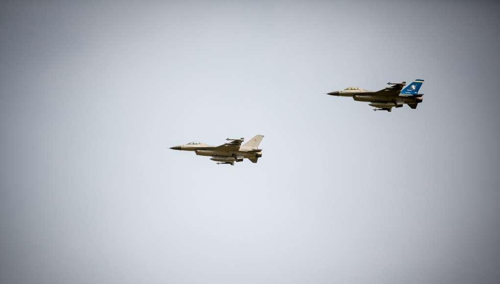 Danske F-16 fly. Foto : Krigeren.dk.