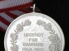 Forsvarets medalje for international tjeneste 1948-2009 bagside