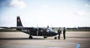 Hjemmeværnets nye fly Britten-Norman Defender Foto: C. Sundsdal
