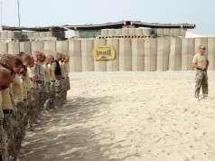 Overdragelse af patruljebasen Armadille fra ISAF hold 5 til ISAF hold 6. 12. august 2008. Foto: Hans Jørgen Hansen