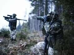 Finske soldater på øvelse