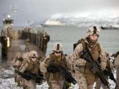 U.S. Marines under øvelse Cold Response 2012 nær Harstad, Norge. Foto: Forsvaret.no