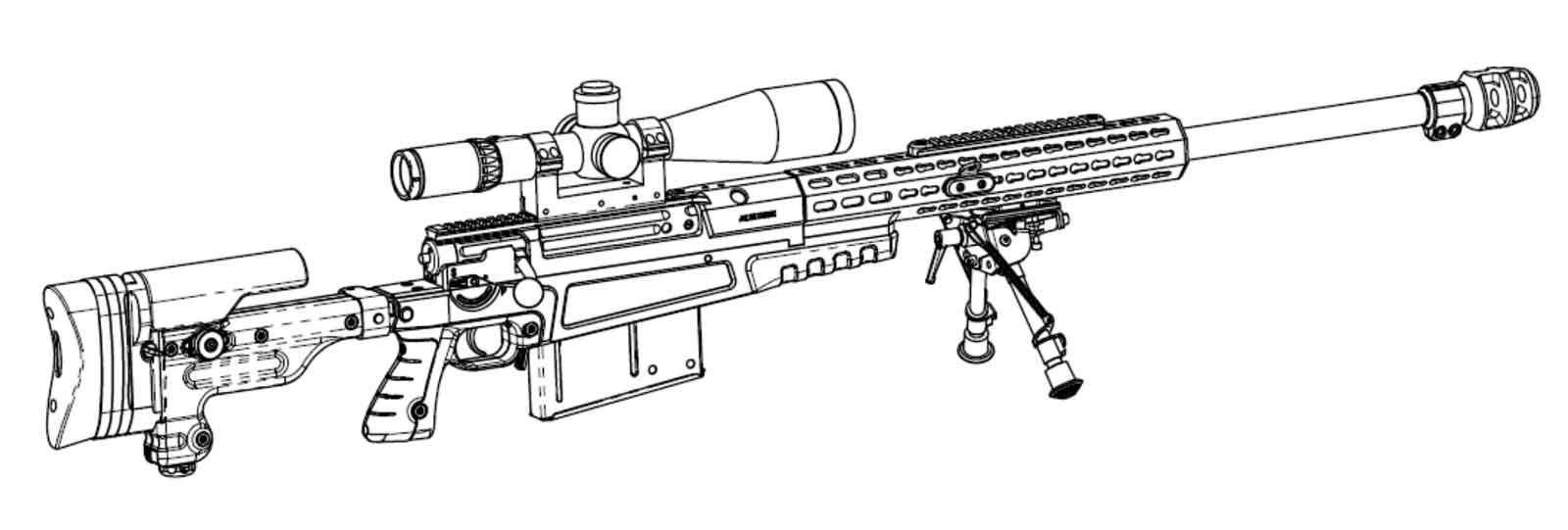 Accuracy International AX50 - Hærens nye 12,7 finskyttegevær